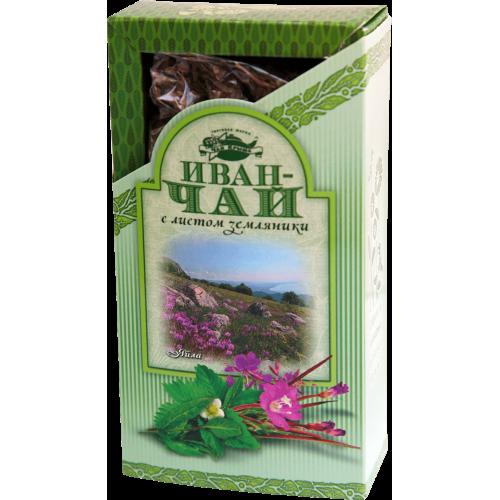 Иван-чай с земляникой в картонной пачке, 80 г.