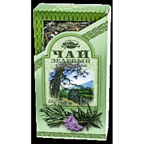 Чай зеленый с розмарином в картонной пачке, 80 г.